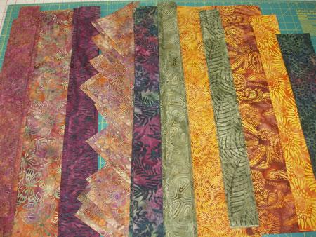 Island Batik Quilt - Cut Strips